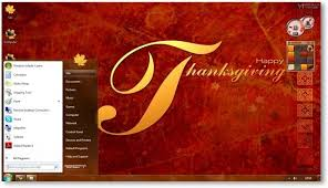 windows 7 thanksgiving theme themes