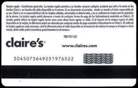 claires gift card gift card s con unicef s spain s col es