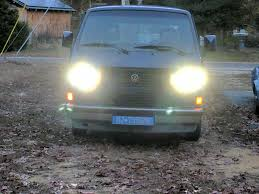 volkswagen vanagon 79 vanagain com led headlight bulb set vanagon square outer low