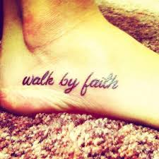 walk by faith foot tattoo i think i u0027d do the birds in white what