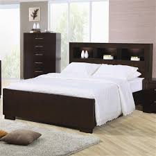 Bed With Headboard And Drawers Jessica Contemporary Bed With Storage Headboard And Built In
