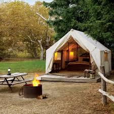 best luxury camping sunset