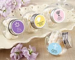 christening favors personalized mini glass favor jar christening and baptism favors