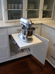 cabinets modern kitchen aid pop up cabinet drawer for heavy mixer