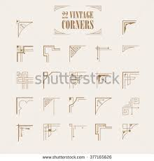 big set deco western frame stock vector 377165626