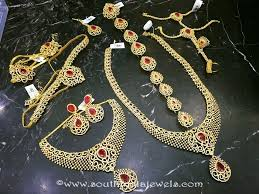 fashion jewelry necklace set images Imitation ruby bridal jewellery set south india jewels jpg