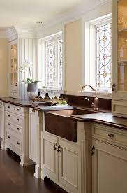terrific copper kitchen sinks home renovations with stained glass