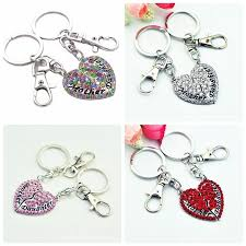 Baby Keychains Prettybaby Love Keychain Mother Daughter Full Rhinesone Double