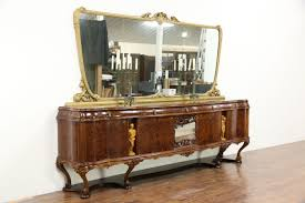 Mirror Credenza Italian Vintage Sideboard Credenza Or Bar Cabinet Carved Figures