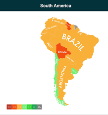 South America Climate Map by Which Countries Are Exposed To Climate Change