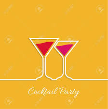 cocktail party martini glass invitation club night restaurant