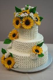 the cakes wedding cakes with sunflowers idea in 2017 wedding