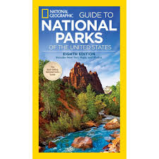 Framed Maps Of The United States by National Geographic Complete National Parks Of The United States