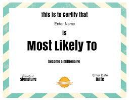 Free Online Certificate Template Superlative Certificate Template Certificate Street Free Award