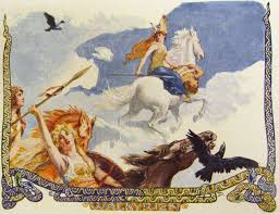 norse mythology the aurora borealis is associated to the valkyries