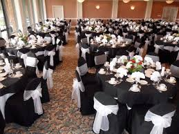 black and white chair covers wonderful black and white table linens for weddings home design