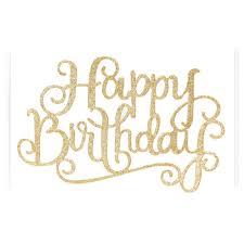 aliexpress com buy 1pcs 13cm gold silver happy birthday party