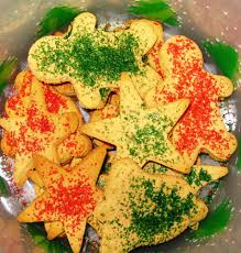 christmas cookies with cinnamon sugar sprinkles vegan gluten