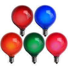 bulk replacement christmas mini light bulbs e12 party and wedding globe lights g50 satin multicolor 7 watt
