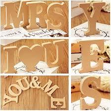 10x1 5cm thick wood wooden letters alphabet diy bridal amazon com decoration 10x1 5cm thick ligneous woody wooden