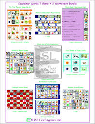 container word cards 4 pages u003d 36 cards by eslfungames teaching