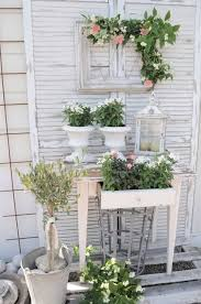 Shabby Chic Garden Decorating Ideas All My Favorites Garden Table With Frame Galvanized Containers