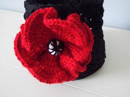 Poppy Home Decor by Crochet Basket Pattern Tshirt Zpagetti Thread Basket Poppy Flower
