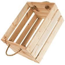 douille en bois caisse en bois avec poignées en corde meubles d u0027appoint