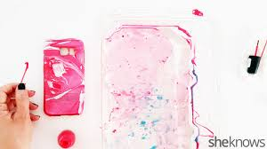 Easy To Make Home Decorations Easy Steps To Make Your Own Water Marble Cell Phone Case