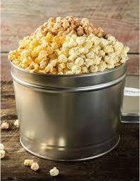 Popcorn Baskets Savory Gourmet Popcorn Tin Bacon Cheddar Sriracha Kettle Corn