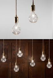 Light Bulb Pendant Fixture Crystal Bulb Pendant Lights Eat Drink Chic