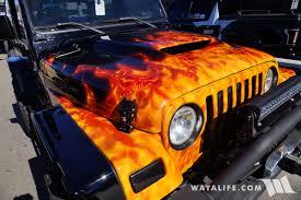 2017 Sema Go4life Black Flames Jeep Tj Wrangler
