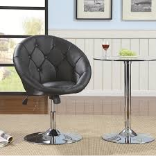 Swivel Tilt Dining Chairs by Dining Chairs And Bar Stools Contemporary Round Tufted Black