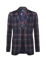 Define Tartan by Pre Fall Collection Man Tartan Wool Jacket Etro