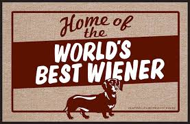 funny doormat amazon com high cotton world u0027s best wiener doormat dachshund