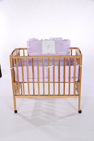 Rocking Mini Crib Baby Doll Bedding Gingham With Rocking Applique