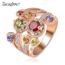 aliexpress buy beagloer new arrival ring gold beagloer brand costume rings for women gold color flower ring