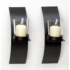 home decor modern art candle holder wall sconce black wire metal