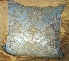 Ottoman Pillow Antique Ottoman Metallic Thread And Silk Pillow Cushion C1850 Sold