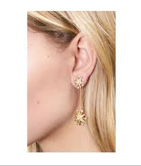 drop earrings zoe clea pavé starburst drop earrings
