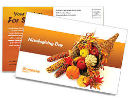 thanksgiving postcard template design id 0000000721
