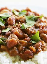 chili beans with rice recipe simplyrecipes com