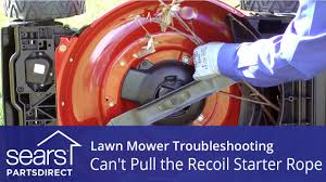 lawn mower won u0027t start can u0027t pull the recoil starter youtube