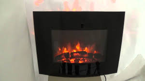 electric fire wall mounted heater fireplace stove led log burning