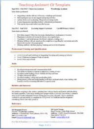 example resume of teacher assistant