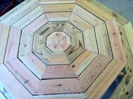 Wooden Hexagon Picnic Table Plans by Ana White Octagon Picnic Table Diy Projects