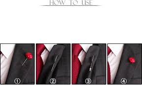 Lapel Flower Men U0027s Mix Colors Flower Rose Boutonniere Brooch Lapel Pin Tuxedo