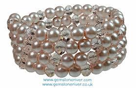 pink pearls bracelet images Pink blush pearls pink rosaline crystal bracelet multi strand jpg