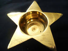 star shaped tea lights brass star candle tea light holders ebay