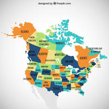 combined map of usa and canada usa and canada map vector free